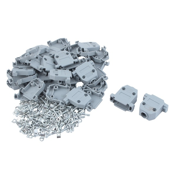 20 Pieces DB15 15Pin Connector Plastic Shell Hood Cover Housing Replacement Gray
