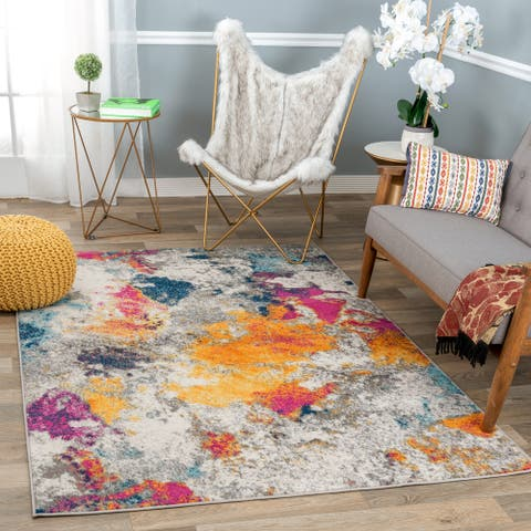 Abstract Contemporary Area Rug