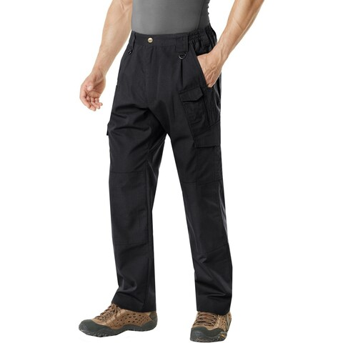 CQR TLP-105 Lightweight Ripstop EDC Tactical Assault Cargo Pants - Black