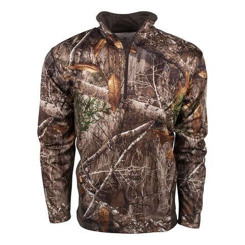 King's Camo KC1 1/4 Zip Pullover, Realtree Edge, XXXX-Large