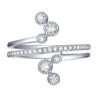 Smiling Rocks 0 39Ct G H VS1 Lab Grown Diamond Bypass Ring