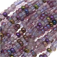 Czech Seed Beads Mix Lot 11/0 Lilac Purples 1/2 Hank