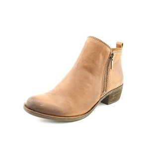 Lucky Brand Basel Round Toe Leather Ankle Boot
