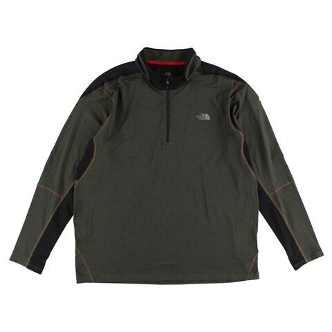 The North Face Mens Kilowatt Quarter Zip Shirt Gray - gray/black/red - XxL