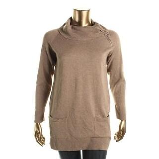 Jeanna Pierce Womens Knit Asymmetrical Pullover Sweater