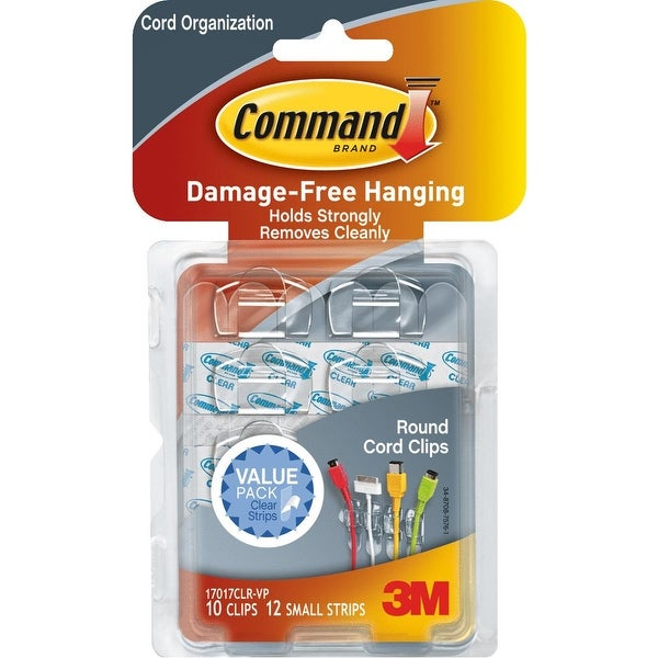 3M Command Clear Cord Clip