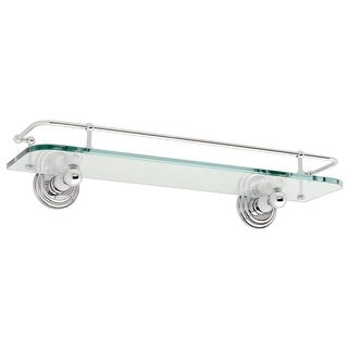 "Ginger 1135T-18 Chelsea 18"" Glass Shelf with Rail - n/a (3 options available)"