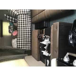 Eddie Bauer Black/White Mountain Plaid Comforter Set
