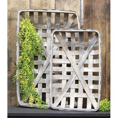 2/Set Gray Rectangle Tobacco Baskets
