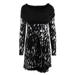 Kensie Womens Drapey Long Sleeves Wear to Work Dress - XS
