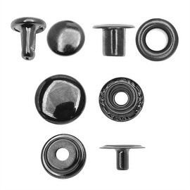 Create Recklessly, Eyelet / Rivet / Snap Hardware Kit, 58 Total Pieces, Gun Metal Plated