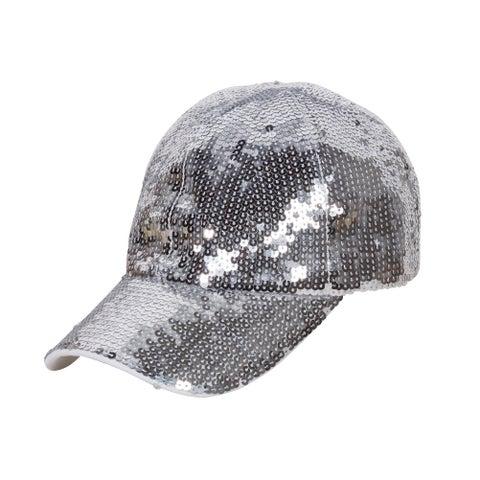 Glitter Sequin Elastic Fit Baseball Hat