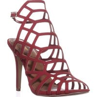 madden girl Directt Caged Ankle Strap Sandals, Red