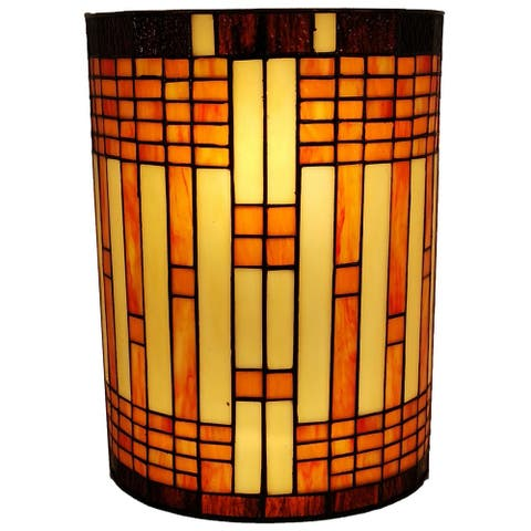 Tiffany Style 2-light Geometric Wall Sconce AM1077WL10B Amora Lighting