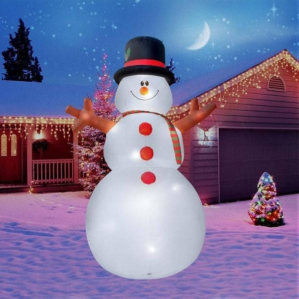 Holidayana Christmas Inflatable Giant 15 Ft. Snowman Inflatable Featuring Lighted Interior