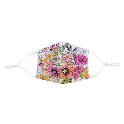 Pink Floral Garden Face Mask - M