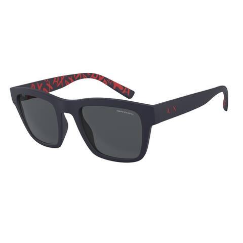 Armani Exchange AX4088SF 817781 52 Matte Dark Blue Man Square Sunglasses