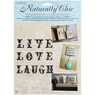 Wrights Naturally Chic Iron-On Transfers-Live, Love, Laugh