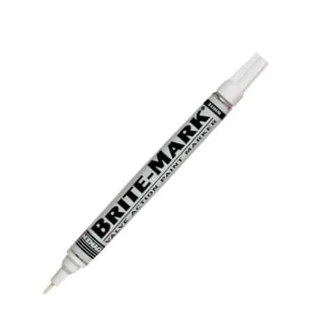 Dykem 84003 Brite Mark Permanent Marker, White