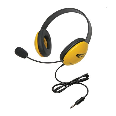 Listening First Headsets with Single 3.5mm plugs, Yellow
