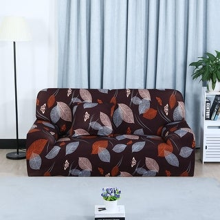 Unique Bargains Leaves Pattern L-Shaped Stretch Sofa Slipcovers (3 options available)