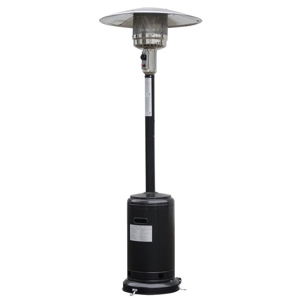 Patio Propane Standing LP Gas Steel Accessories Heater-black
