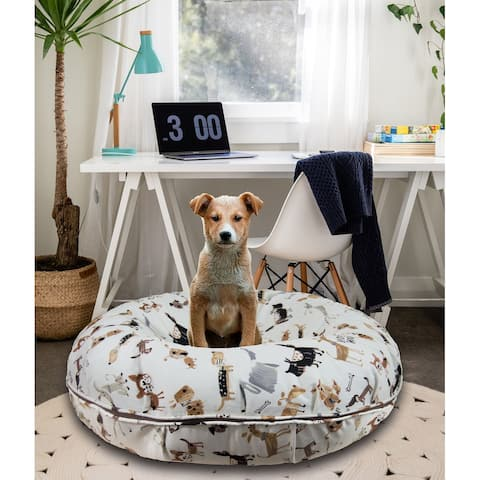 Bessie and Barnie Signature Dog Park Luxury Extra Plush Faux Fur Bagel Pet / Dog Bed
