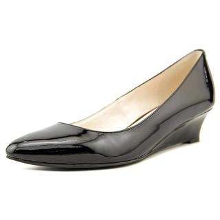 Cole Haan Kelsey Waterproof Wedge Open Toe Patent Leather Wedge Heel