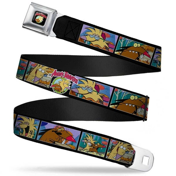 Angry Beavers Logo Full Color Black Angry Beavers Daggett & Norbert Blocks Seatbelt Belt
