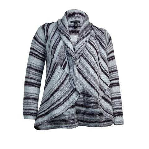 Style & Co. Women's Open Stripe Shawl Sweater