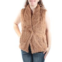 Womens Brown Sleeveless Open Vest Top  Size  S