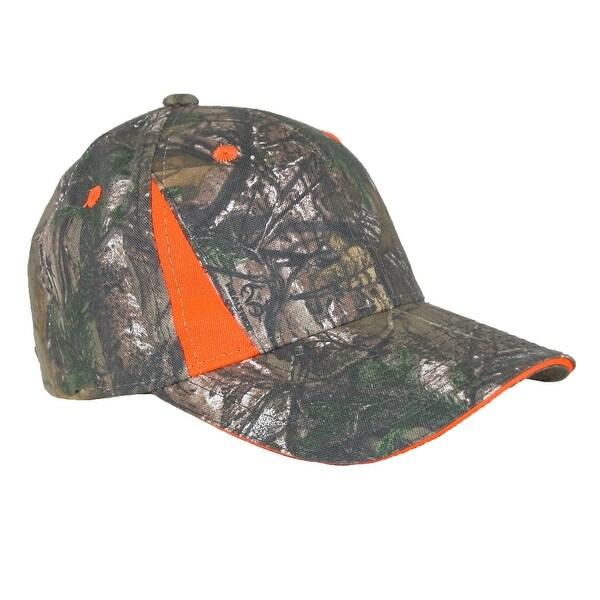 Realtree Xtra Green Camo Blaze Orange Baseball Cap