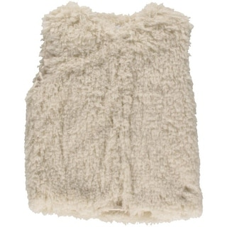 Lucy Paris Womens Faux Fur Shaggy Vest