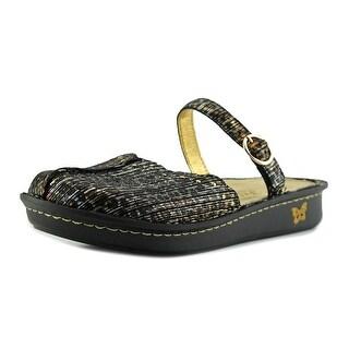 Alegria Tuscany Women W Round Toe Leather Bronze Clogs (Option: 10.5)