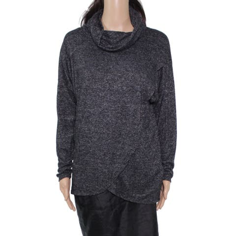 Nally & Millie Women's Sweater Charcoal Gray Size Medium M Cowl Neck