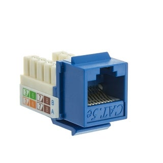 Offex Cat5e Keystone Jack, Blue, RJ45 Female to 110 Punch Down