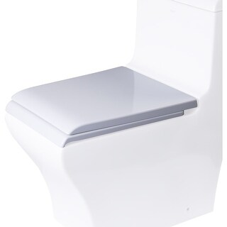 Eago R-356SEAT Elongated Closed-Front Toilet Seat with Soft Close Hinges - White - N/A
