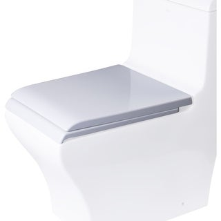 Eago R-356SEAT Elongated Closed-Front Toilet Seat with Soft Close Hinges - White