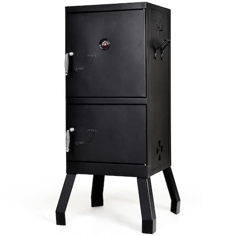 Costway Vertical Charcoal Smoker BBQ Barbecue Grill w/ Temperature