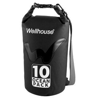 Wellhouse Authorized Underwater Travelling PVC Dry Bag Pouch Backpack Black 10L