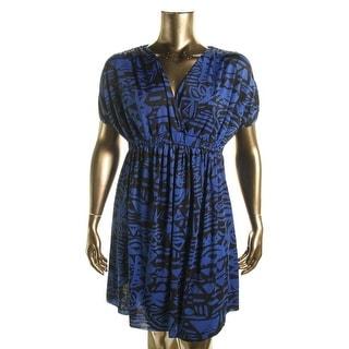 Tbags Los Angeles Womens Plus Surplice Jersey Wear to Work Dress - 1X