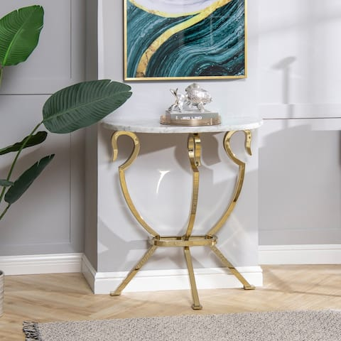 """Athens 30"""" Half Moon Wall Console Table by Jennifer Taylor Home"""