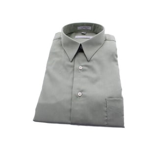 Geoffrey Beene Mens Sateen Wrinkle Resistant Button-Down Shirt - L
