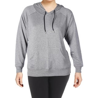 The Balance Collection Womens Plus Harmony Hoodie Fitness Running