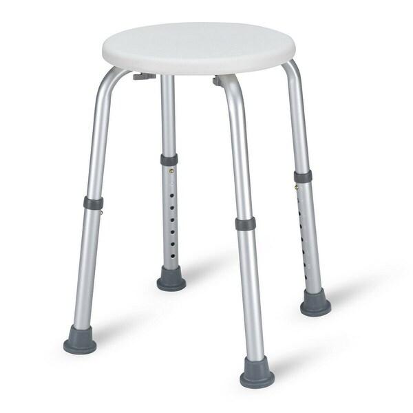 Costway Bath Shower Stool 8 Height Adjustable Round Medical Seat Bath Tub Chair Non-Slip