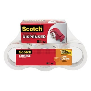 Scotch 3650 Moving and Storage Tape, 1.88 Inches x 54.6 Yards, Clear, Pack of 6
