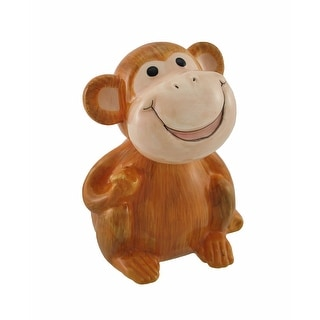 Ceramic Bobble Head Baby Monkey - Brown
