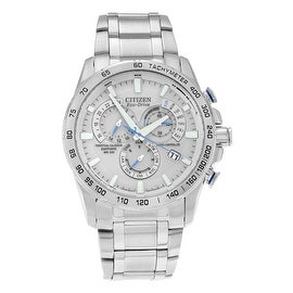 Citizen Men's 'Eco Drive' AT4000-53B Stainless Steel Chronograph Bracelet Watch