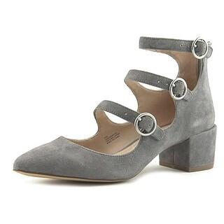 Charles By Charles David Wonder Triple Strap Women Suede Gray Heels