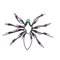 "12"" Battery Operated LED Lighted Spider Halloween Window Silhouette - Purple"